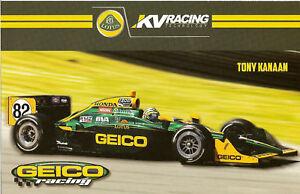 2011 TONY KANAAN INDIANAPOLIS 500 PHOTO CARD POSTCARD INDY CAR LOTUS RACING