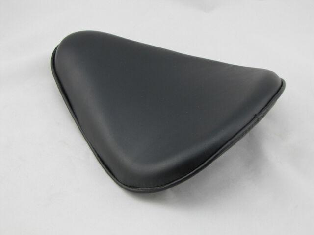 Black Leather Solo Seat for Harley Davidson Sportster Chopper Bobber Custom
