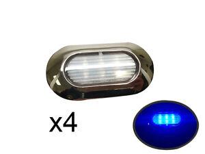 Pactrade-Marine-4pcs-Blue-LED-Light-SS304-Housing-Surface-Mount-12V-IP67-6LED