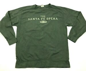 VINTAGE-Santa-Fe-Opera-Sweater-Size-Medium-M-Green-Pullover-Crew-Comfort-Colors