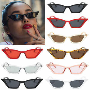 73eccf420a1 VINTAGE CAT EYE SUNGLASSES WOMEN RETRO SMALL FRAME FASHION SHADES ...
