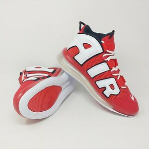 Details about Nike Air More Uptempo 720 University Red White Black Women Size 9, Mens Size 7.5