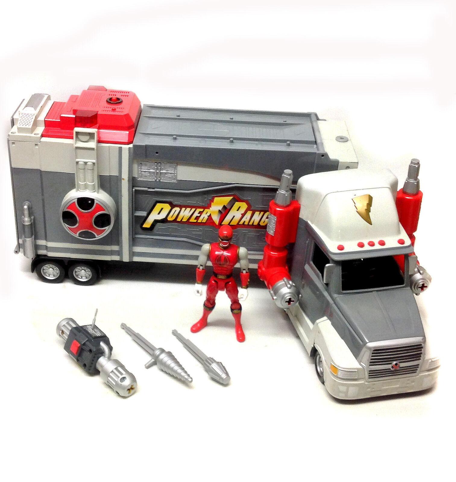 Morphin Power Rangers Ninja Storm 20  largo móvil HQ camión y Figura Juguete enorme