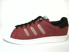 ADIDAS SUPERSTAR Mens SHOES Red/Black Snake Sneakers Clamshell US 12 EU 46 2/3