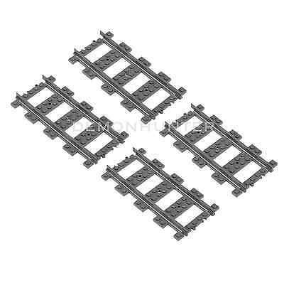 NEUF LEGO Train Track Straight x 4 pièces pour 60197 60198 60051 60052
