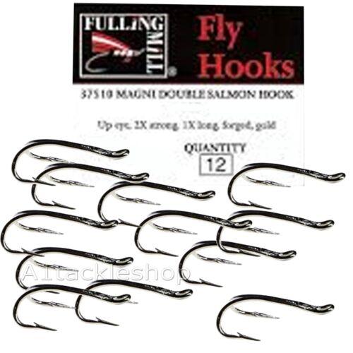 12 Fulling Mill  Magni Salmon Double Fly Tying Hooks
