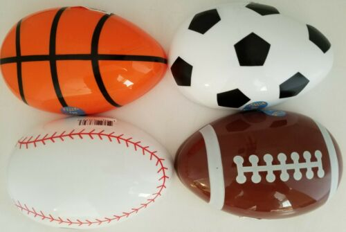 Type 1//Pk Select Happy Easter Sports-Ball X-Large Plastic Fillable Eggs