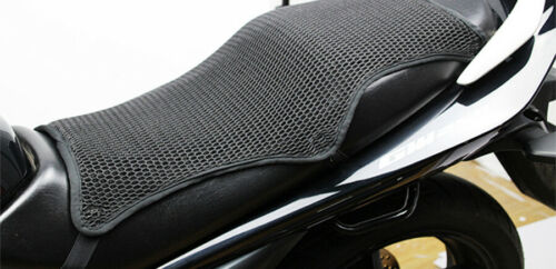 Summer Motorcycle Seat Cover Heat Insulation Protector Pad Black 3D Mesh Fabric