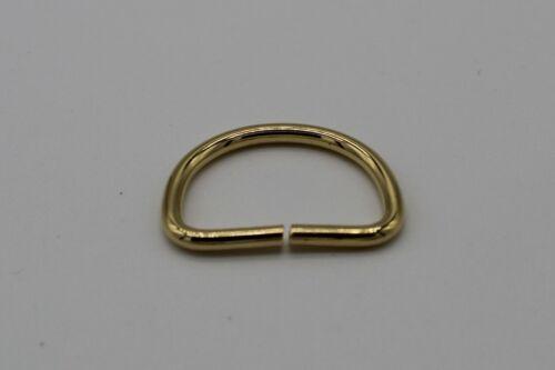 21 mm extrémité ouverte D Ring Boucle Fil Métallique désoudé attaches pour sangle 20 mm
