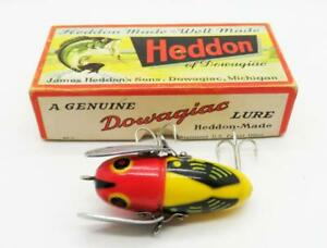 A17-VINTAGE-HEDDON-2120-YRH-CRAZY-CRAWLER-FISHING-LURE-WITH-BOX