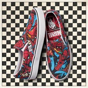 2952460b6a7 Image is loading vans-spider-man-slip-ons-vans-marvel-spider-