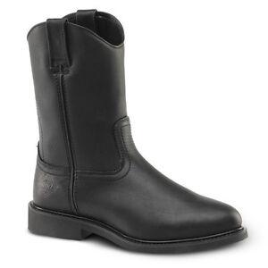 Mens-Black-10-034-Roper-Leather-Waterproof-Work-Boots-BONANZA-104-Size-5-13-D-M