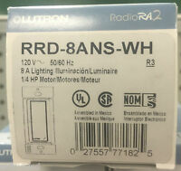 Lutron (77182) RRD-8ANS-WH 8A RadioRa 2 Remote Neutral Switch (27557771825) Building Supplies
