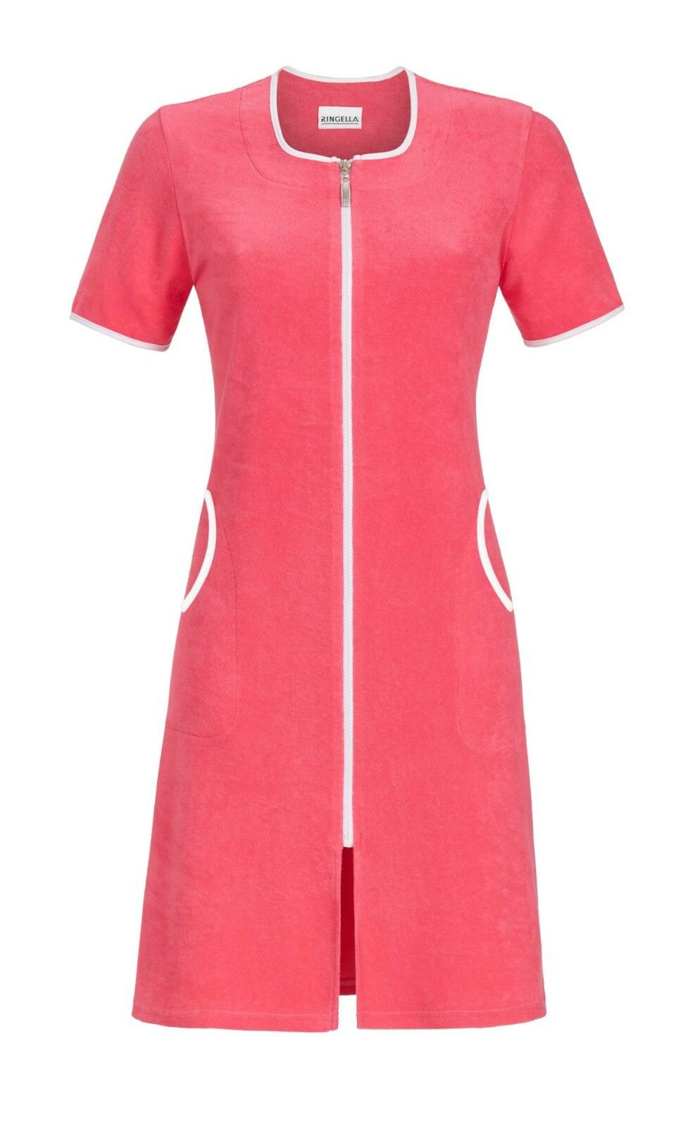 DRESSING GOWN RINGELLA 80% COTON-20% POLYESTER Red color T. 38 40 42 44 46