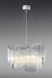 Next orion clear glass 5 light chandelier ceiling lighting new ebay image is loading next orion clear glass 5 light chandelier amp aloadofball Gallery