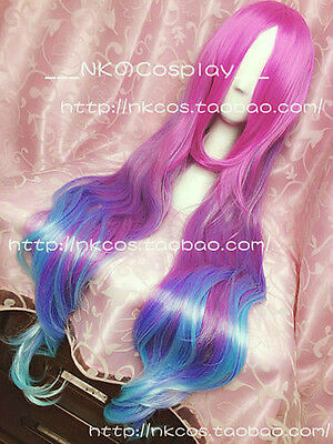 Miss Fortune Long Multi-Color Wavy LOL League of Legends Cosplay Party Wig Hair