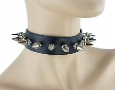 Long Spike Classic Gothic Cosplay Collar Heavy Metal Punk Kids Thrash Death Rock