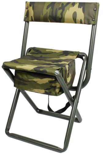 Woodland Camouflage Deluxe Portable Chaise Pliante Tabouret avec pochette bretelles arrière 4578