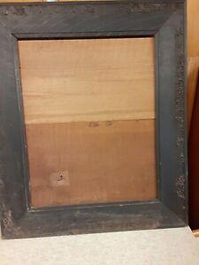 LARGE 19 c. Picture Frame Ornate Fumed Quarter Sawn Oak Painting Mirror Antique