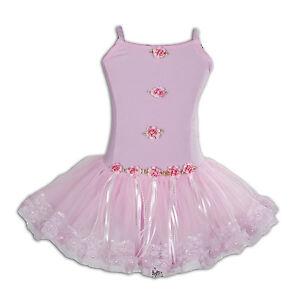 Image Is Loading New Girls Pink Ballet Dance Tutu Dress 4