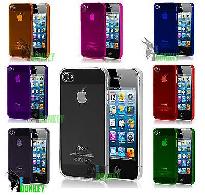 Custodia Case Cover Per Apple iPhone SE Trasparente Rigida Slim + Pellicola