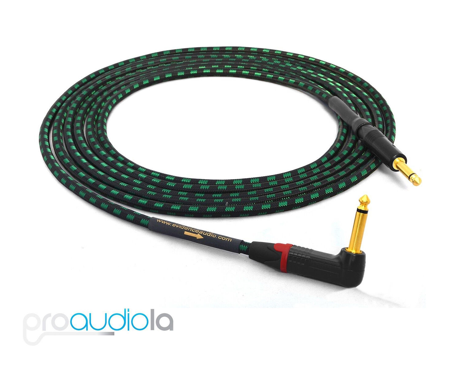 Evidence Audio Lyric HG Instrument Cable   Neutrik gold  1 4  TS to 90º   18 ft.
