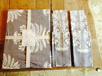 Williams Sonoma Palm Tree Print Table Runner & 8 Napkins Cotton Free Shipping