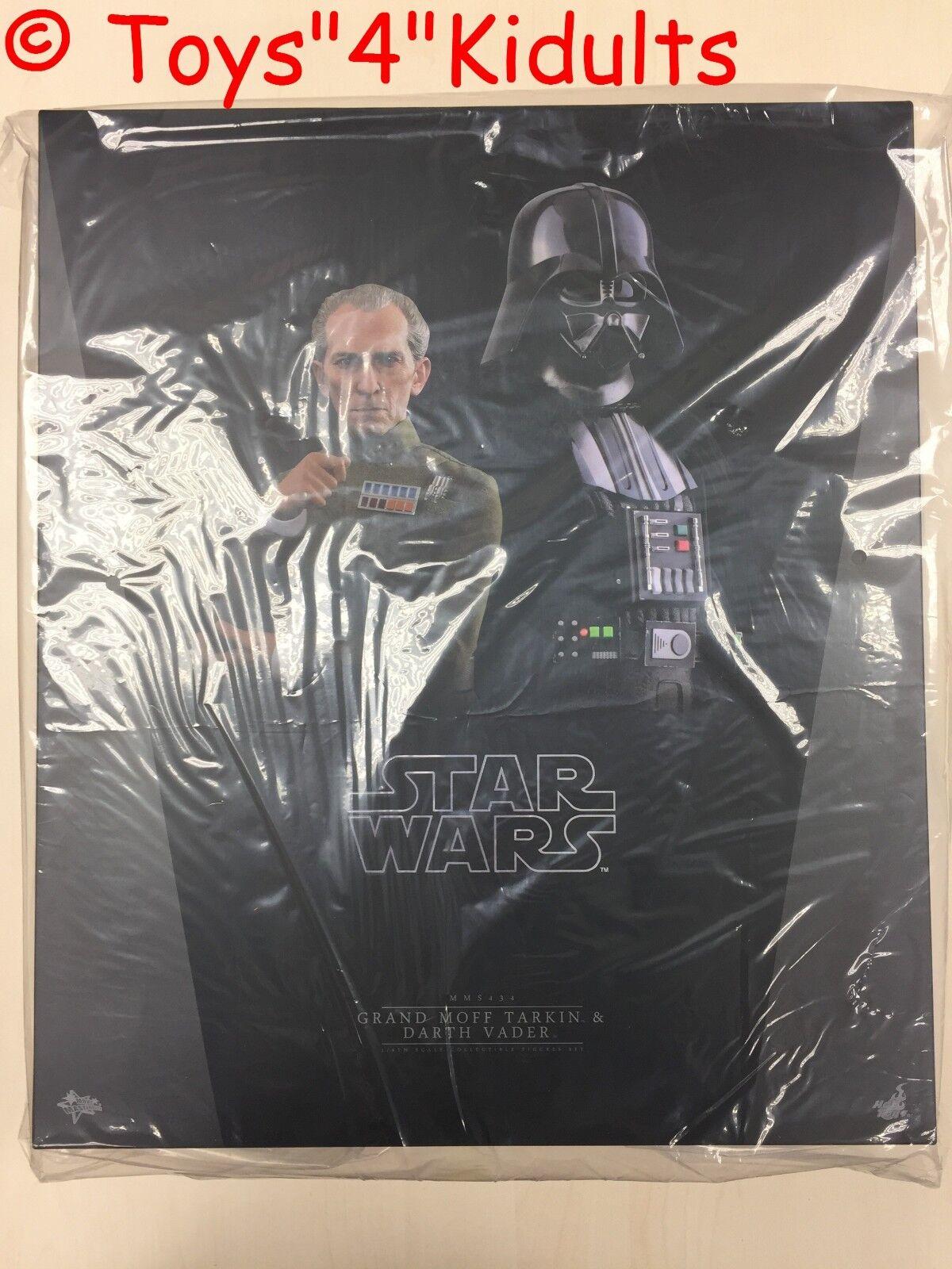Hot Toys MMS 434 Star Wars Nueva Esperanza Grand Moff Tarkin & Darth Vader set nuevo
