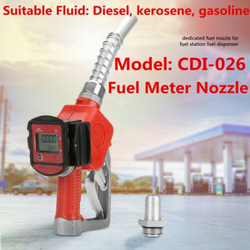 Digital Fuel Oil Diesel queroseno Pistola Boquilla Gasolina Con Medidor de flujo