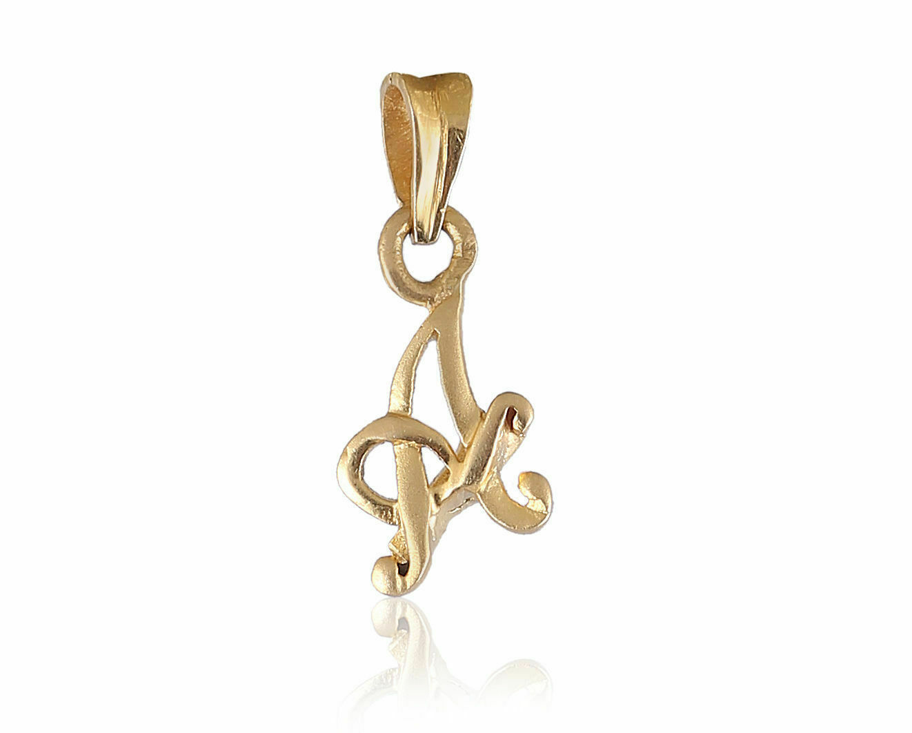 Classy Unisex Italian Initial  A  Pendant In Solid Certified 22Karat Yellow gold