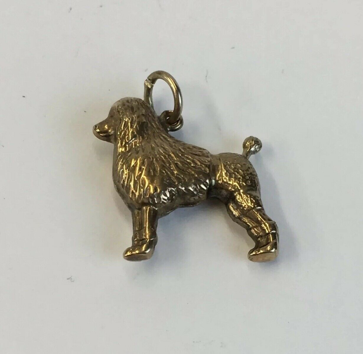 Vintage 1975 9ct Yellow gold Poodle Charm 15mm In Length 0.9g