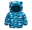 Kids Baby Boy Girls Winter Warm Down Cotton Jacket Hooded Coat  Zipper Outerwear