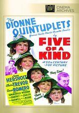 FIVE OF A KIND (1938 Dionne Quintuplets) - Region Free DVD - Sealed