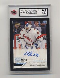 EmergencyBackUp Goalie DAVID AYRES-UD Game Dated Moments RC - #A-DA - GRADED 9.5