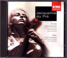 Jacqueline DU PRE ELGAR DVORAK Cello Concerto BARBIROLLI Daniel BARENBOIM CD PRÉ