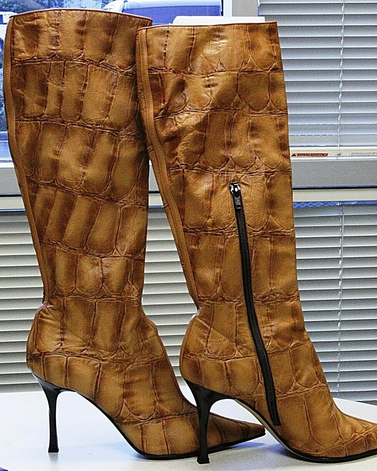 produttori fornitura diretta Casadei Casadei Casadei Faux Alligator Leather stivali Dimensione 8  in linea
