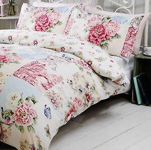 image is loading vintage patchwork duvet quilt cover bedding set pink - Vintage Bedding