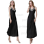 Womens-Ladies-Sexy-Lace-Long-Silk-nightgowns-Stain-Chemise-Sleepwear-Lingerie miniature 12