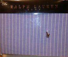 RALPH LAUREN KING SIZE BEDDING DUVET COVER SET BLUE STRIPED 100%COTTON DESIGNER