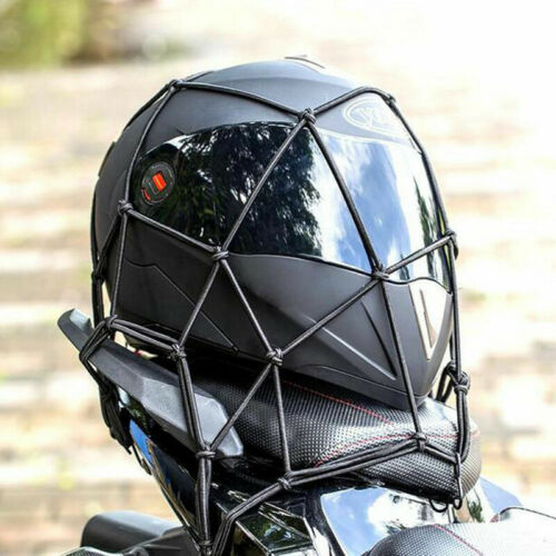 Racing Helmet Hammock Holder Net BLACK Mesh Adjustable Rollcage straps Elastic