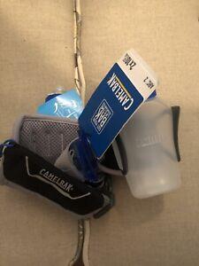 CamelBak-Arc-2-O-S-10-oz-Hydration-Runner-Water-Belt-Black-Electric-Blue-Running