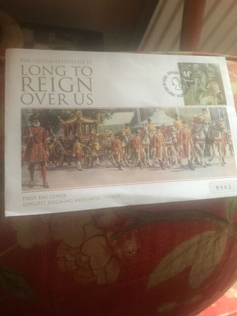 The 'Long to Reign Over Us' First Day Cover