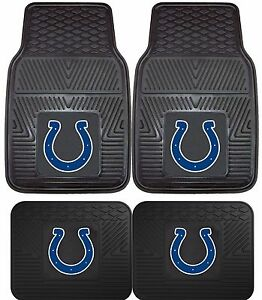 Indianapolis Colts Heavy Duty Floor Mats 2 Amp 4 Pc Sets For