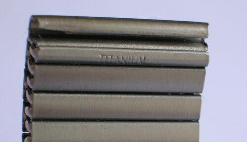 MABRO TITAN Germany FLEX TITANUHRENARMBAND FLEXBAND Auswahl 20 21 22 mm TITANIUM