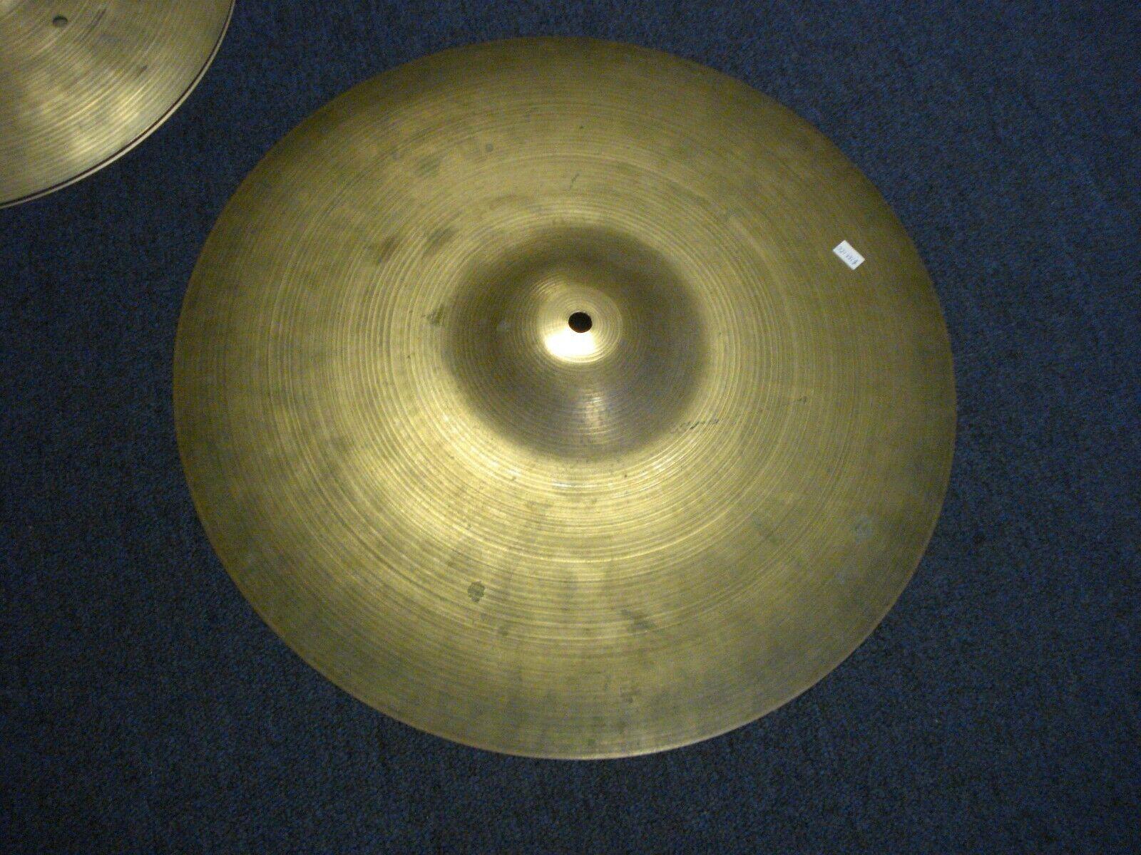 A Zildjian 18 inch cymbal