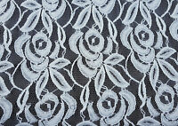 White Flower Lace Fabric By The Yard 1 2-19-16 (bridal Lingerie)