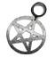 Black-Pentagram-Wicca-Star-Witch-Goth-Pendant-Dangle-Ear-Plug-Tunnel