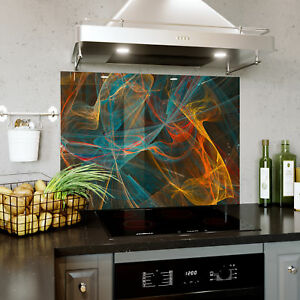 Splashback En Verre Cuisine Cuisinière Abstraction Graphique Maille Toute Taille 0466-afficher Le Titre D'origine Jolie Et ColoréE