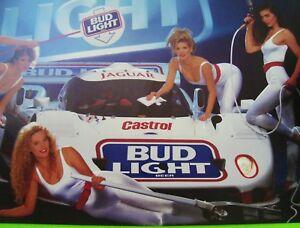 1991 IMSA JAGUAR GTP RACE CAR POSTER w/ HOT BABES Bud Light BUDWEISER Xlnt++ | eBay