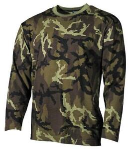 US-MILITARY-STYLE-CZ-CAMO-COMBAT-LONG-SLEEVE-MFH-T-SHIRT-SMALL-XXXL